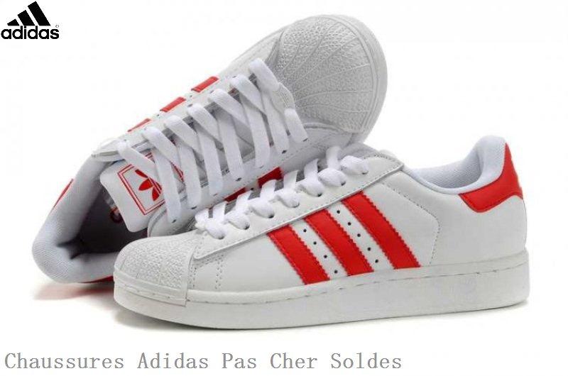 adidas superstar femme rouge et blanche